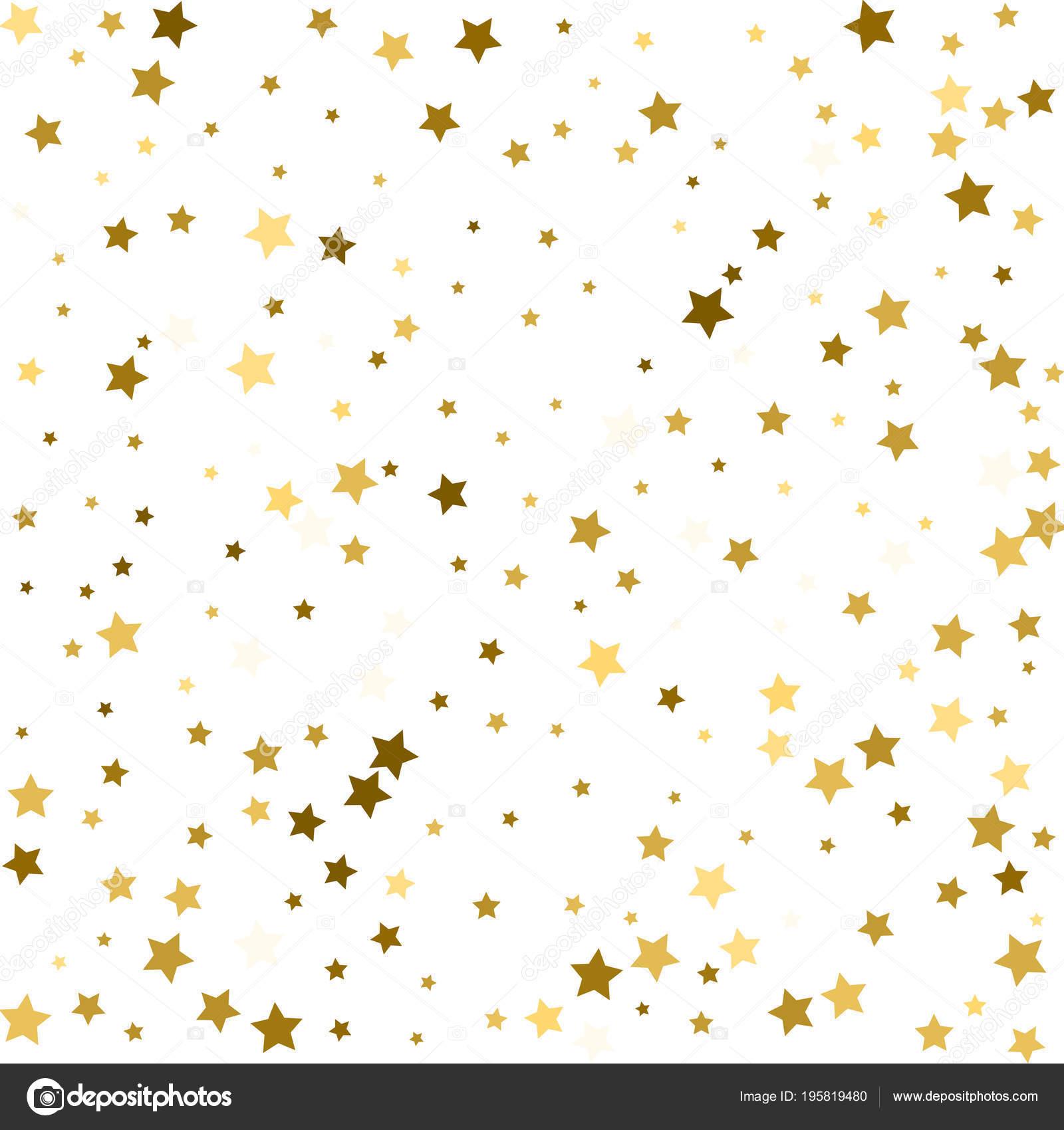 Oro Flying Stars Vector Marco Navidad Mágica Confeti Premium ...