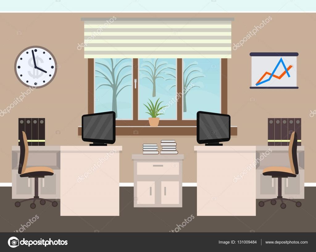 Intérieur de chambre bureau comprenant deux espaces de travail