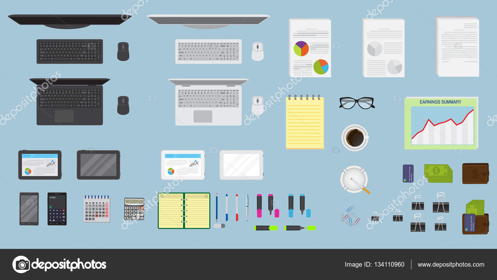 Organizzazione Ufficio : Organizzazione vista dall alto ufficio tabella area di lavoro