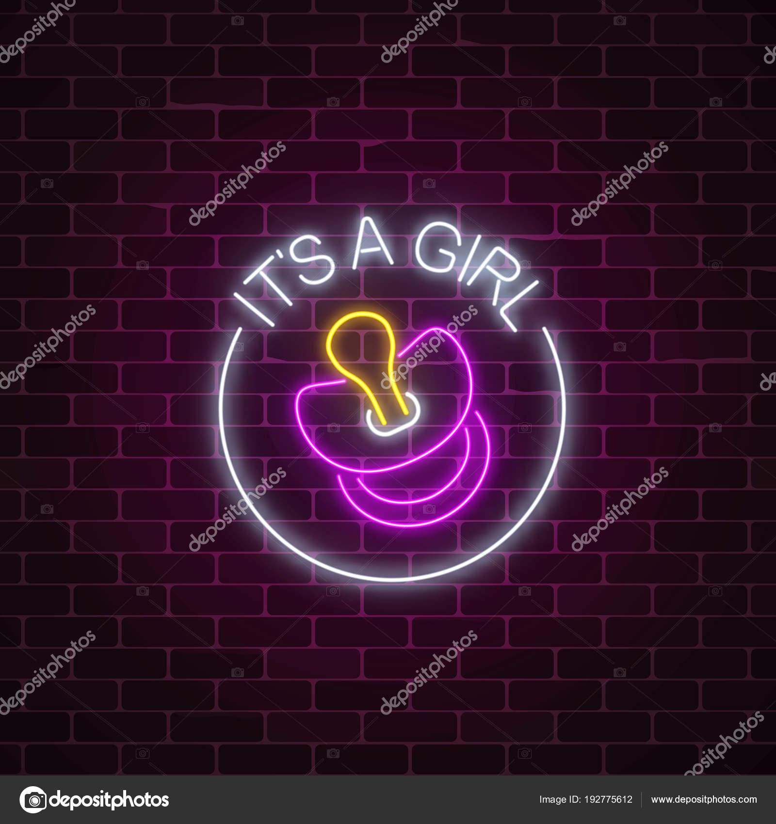 Leuchtende Neon Schild Mit Herzlichen Glückwunsch Zur Geburt