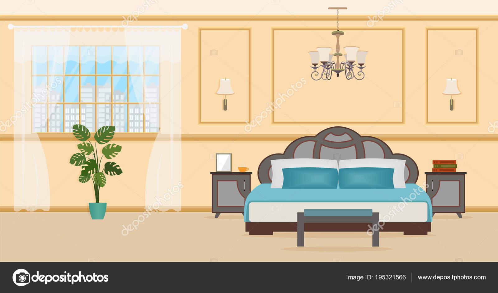 Design D Interieur Chambre A Coucher Avec Des Meubles Y Compris Le