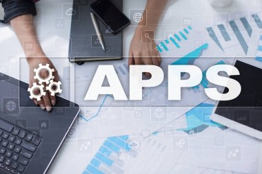 Apps development concept. Business and internet technology