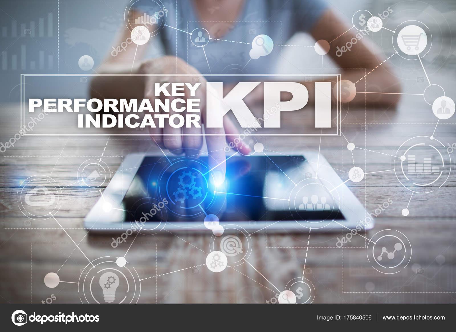 KPI. Indicador clave de rendimiento. Concepto de negocio y ...