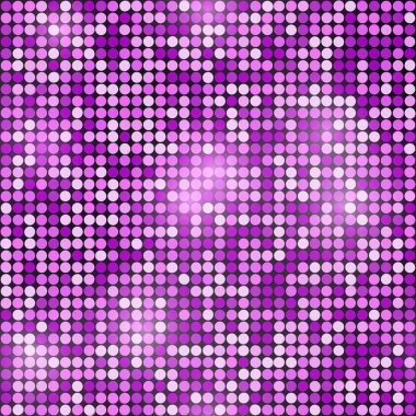 Holiday seamless purple glittering disco  background. Vector des
