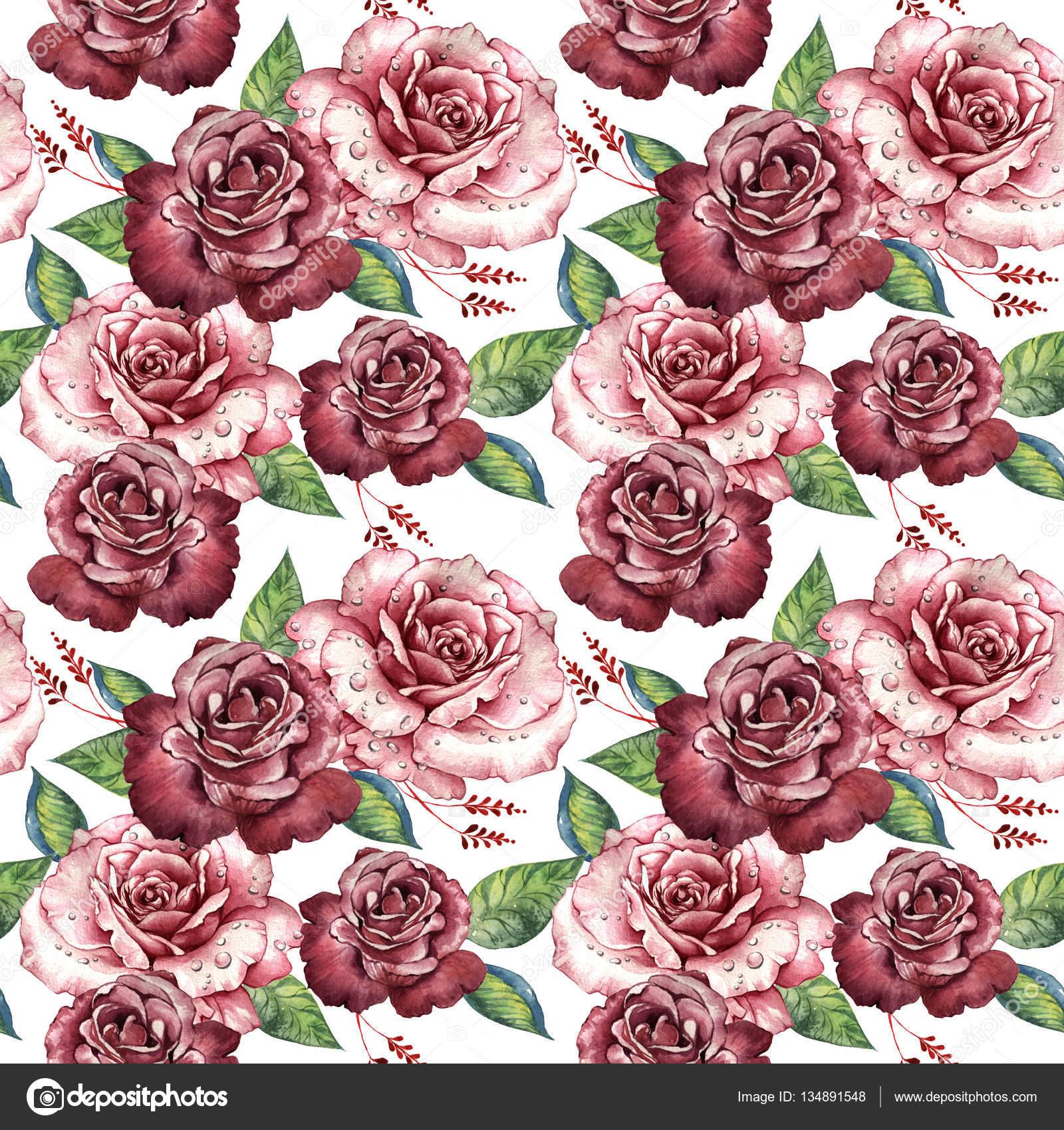 Modello di fiore di rosa del wildflower in stile - Modello di base del fiore ...