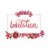 Wildflower obalečem květinový rámeček ve stylu akvarelu, samostatný