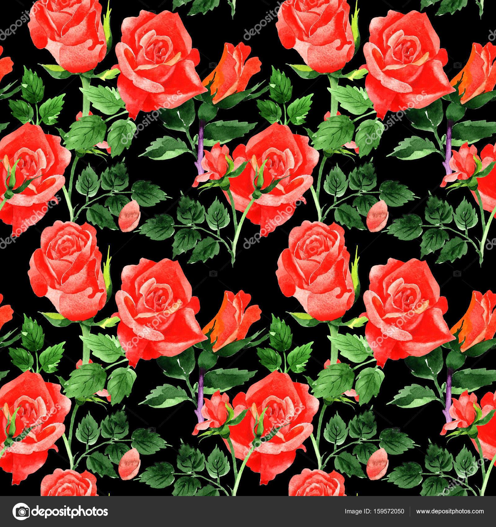 motif de fleurs roses de fleurs sauvages dans un style. Black Bedroom Furniture Sets. Home Design Ideas