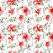 Fotografie Wildflower rose flower pattern in a watercolor style.