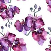 Fényképek Színes orchidea. Virágos botanikai virág. Vad tavaszi levél vadvirág minta