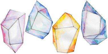 Colorful diamond rock jewelry mineral.