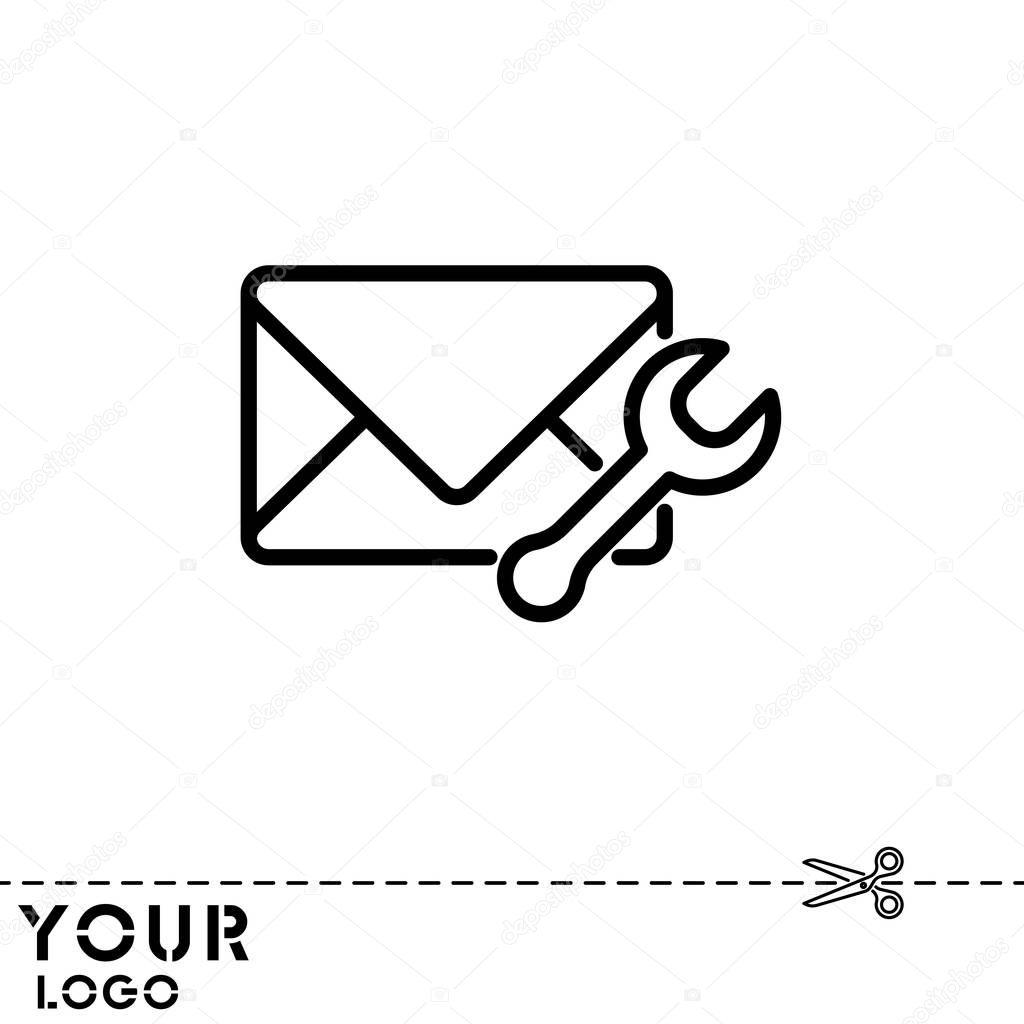 Gestaltung Der Briefumschlag Symbol Stockvektor Ppvector 129404368