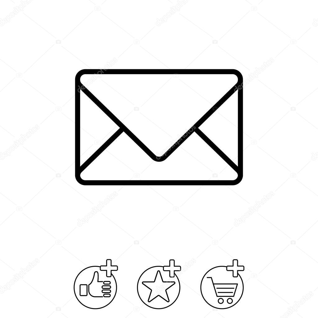 Gestaltung Der Briefumschlag Symbol Stockvektor Ppvector 129405670