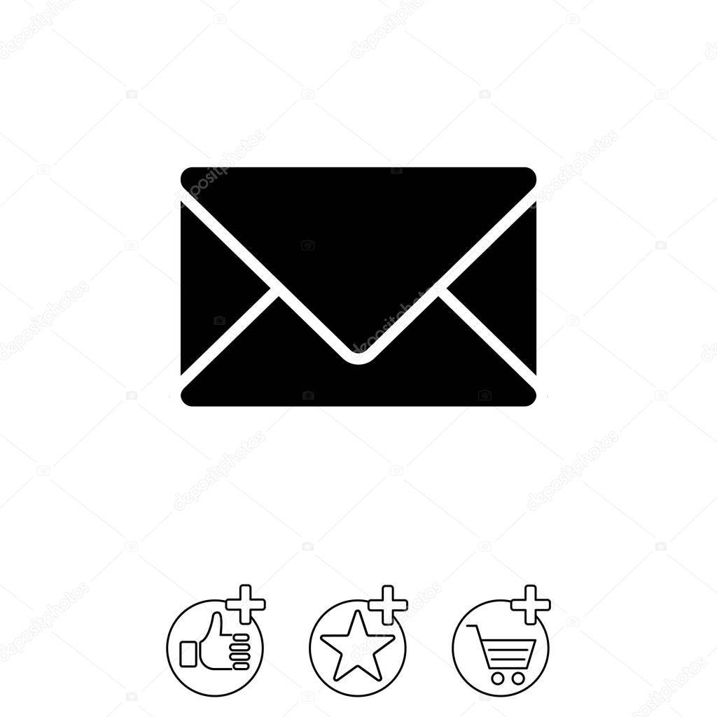 Gestaltung Der Briefumschlag Symbol Stockvektor Ppvector 129407574