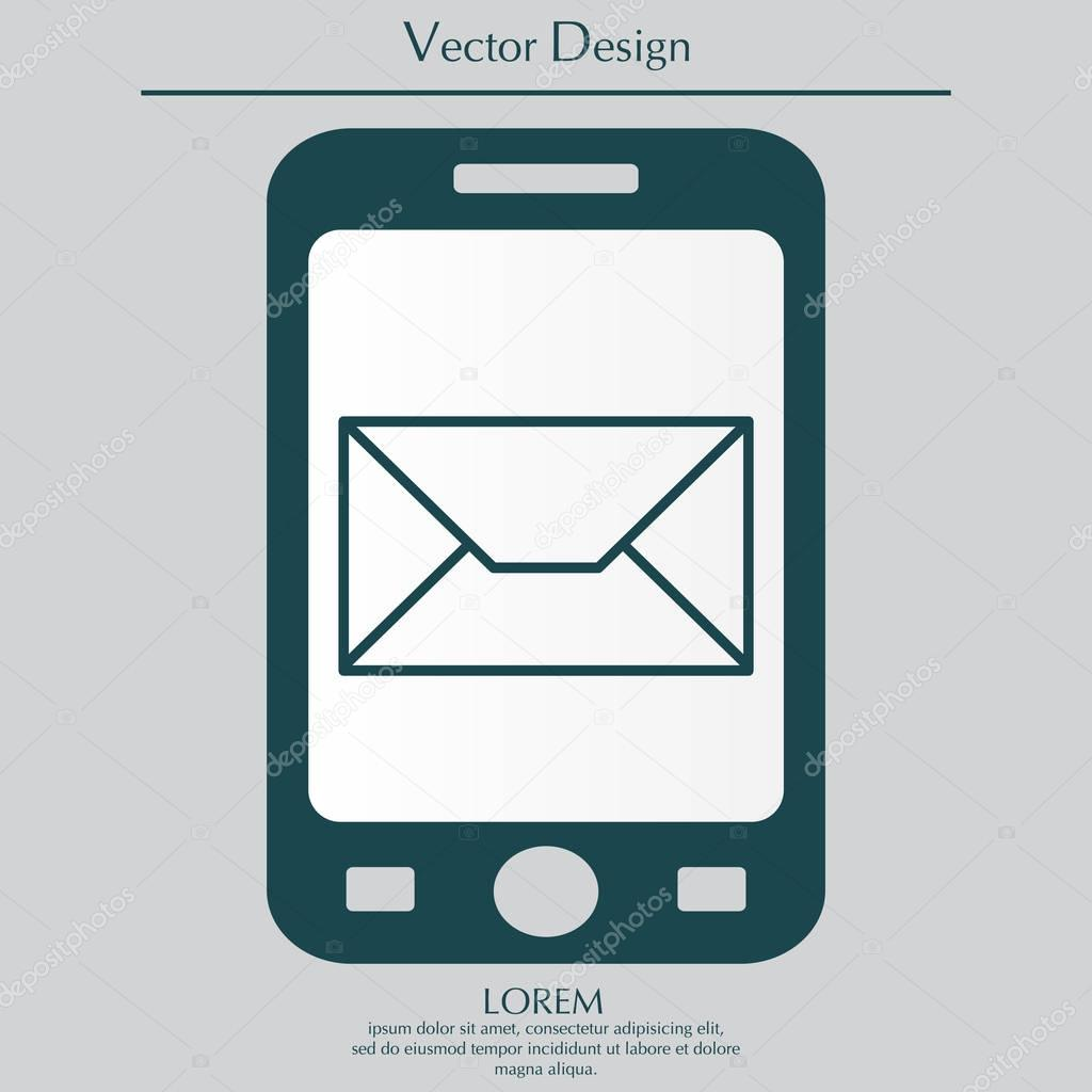 Gestaltung Der Briefumschlag Symbol Stockvektor Ppvector 129409710