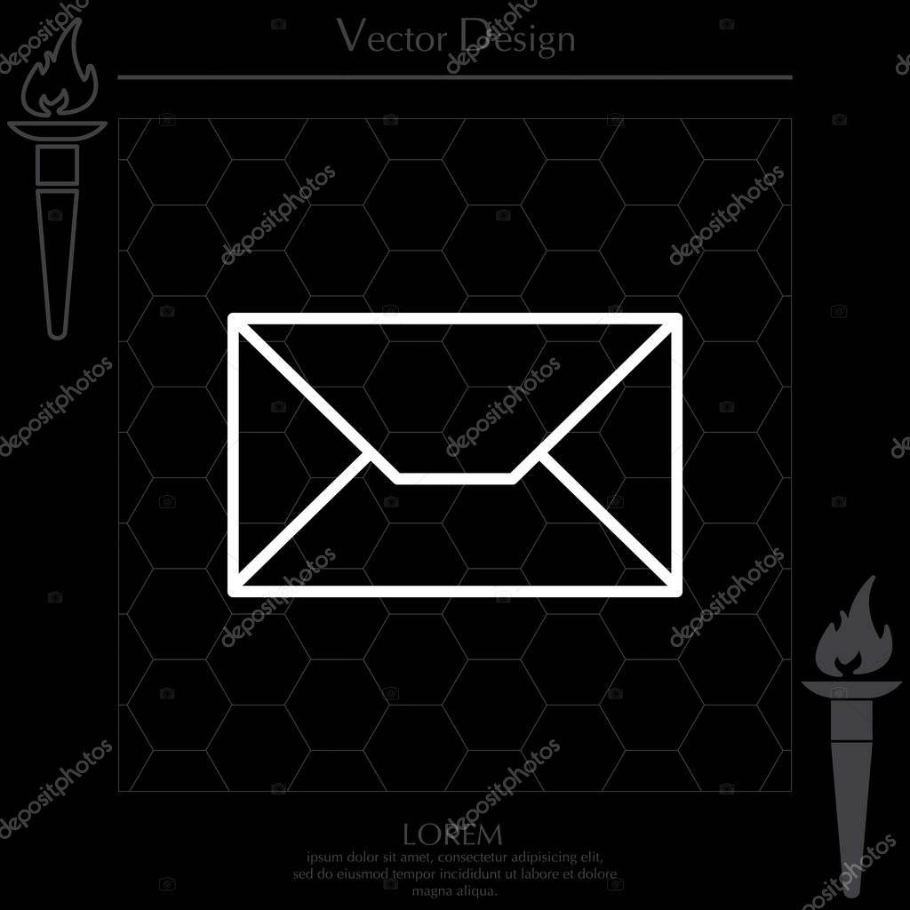Gestaltung Der Briefumschlag Symbol Stockvektor Ppvector 129413976
