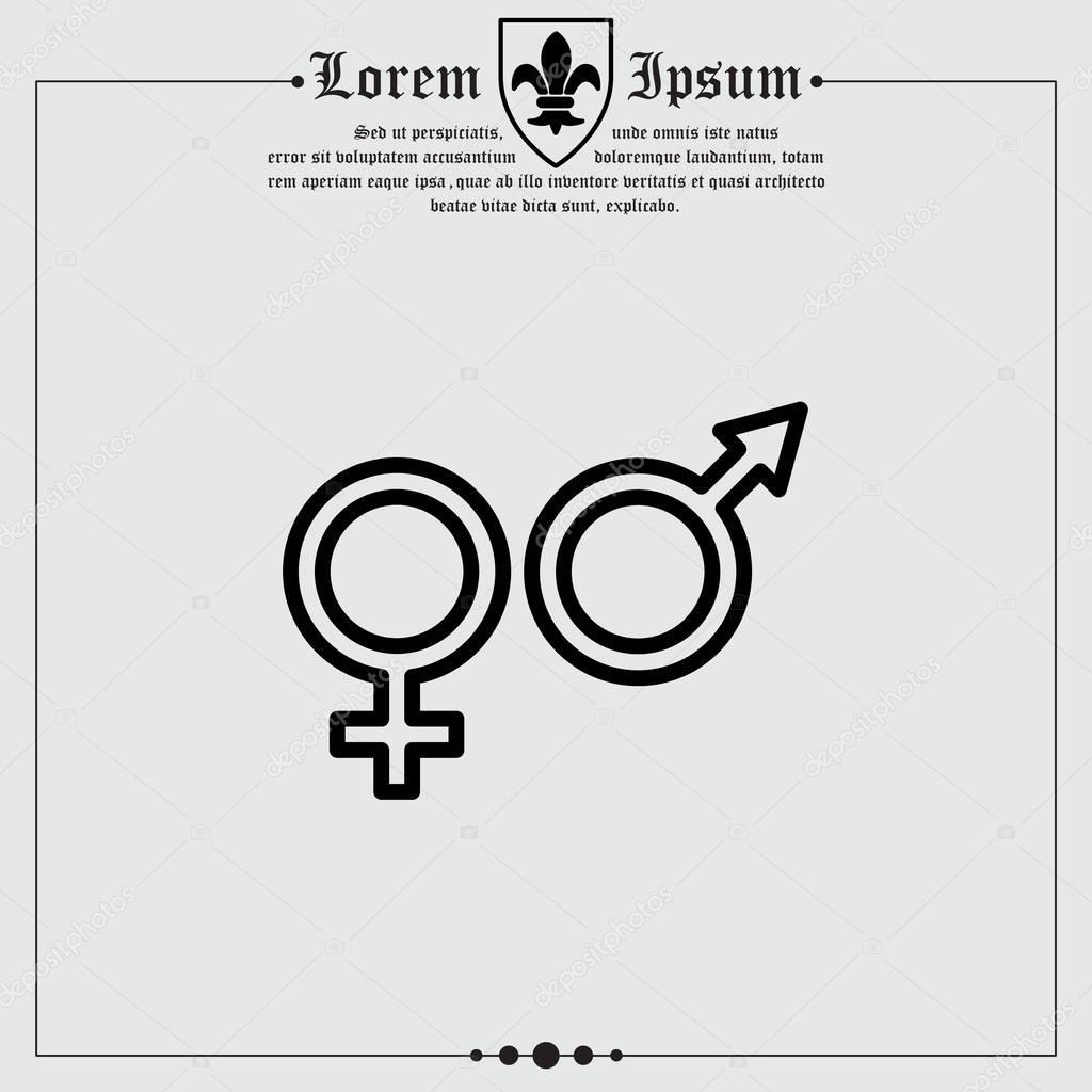 Symbols of men and women stock vector ppvector 130228236 gender symbols symbols of men and women vector by ppvector buycottarizona