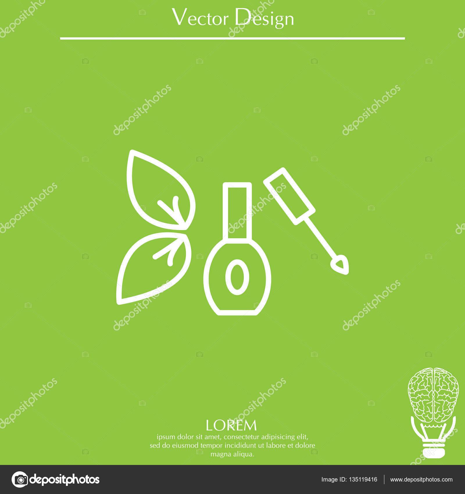 icono de esmalte de uñas — Vector de stock © PPVector #135119416