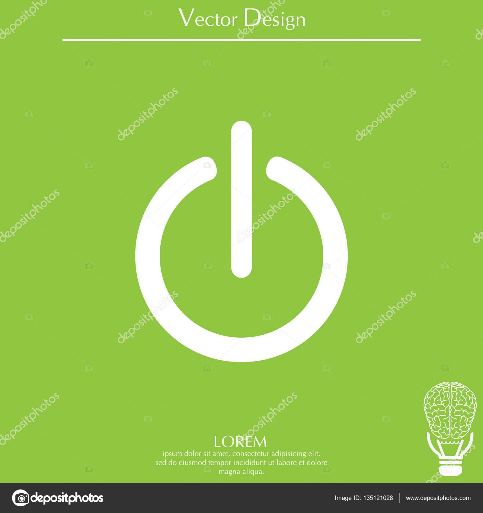 Ein-/ausschalten-Symbol — Stockvektor © PPVector #135121028
