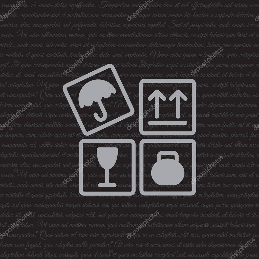 Signs on packages flat icon