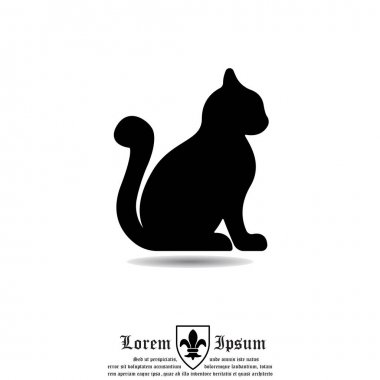 Silhouette of cat icon