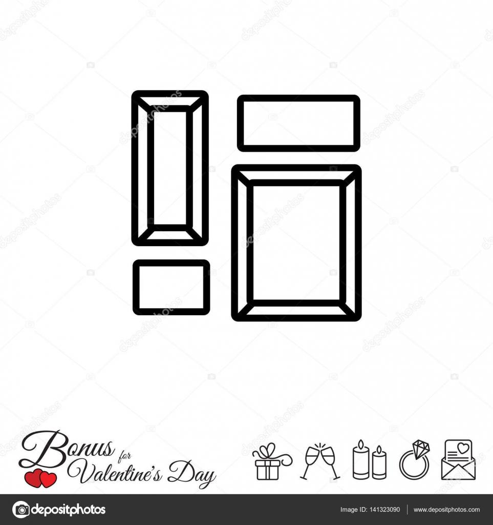 Bild-Rahmen-Symbol — Stockvektor © PPVector #141323090
