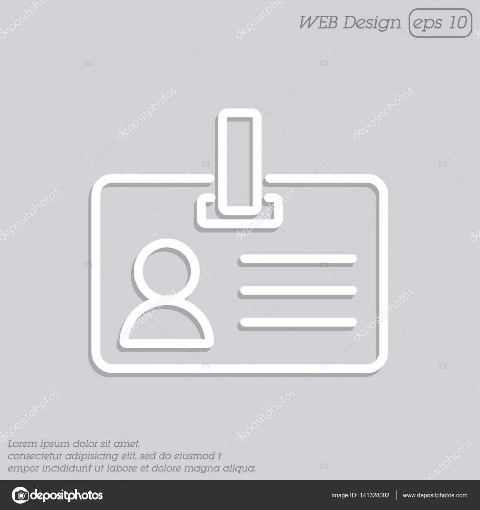 tarjeta de identificación en blanco con cierre — Vector de stock ...
