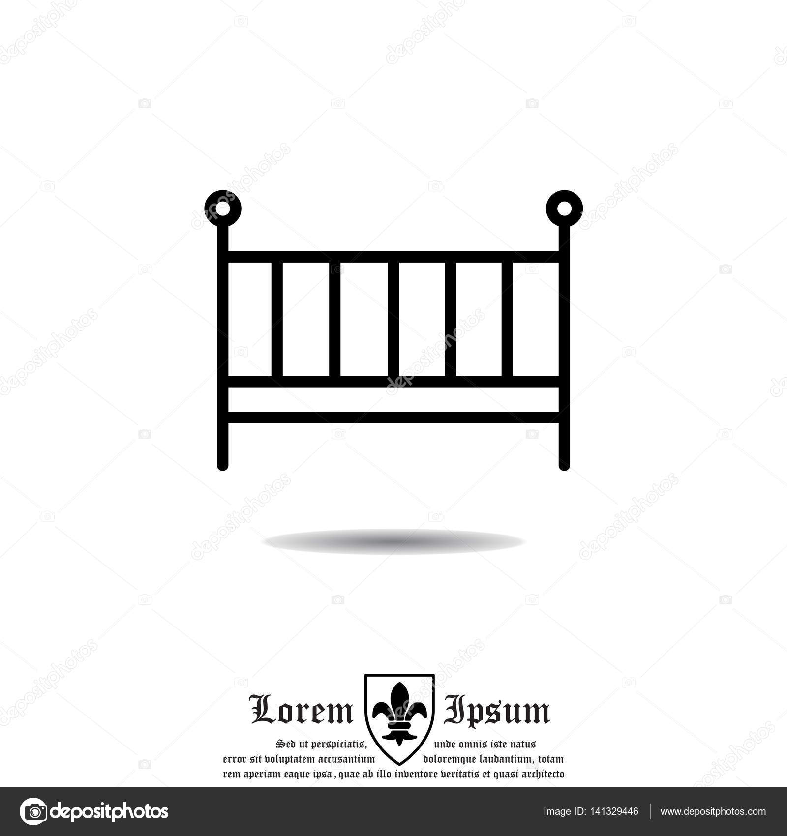 icona semplice del letto del bambino — Vettoriali Stock © PPVector ...