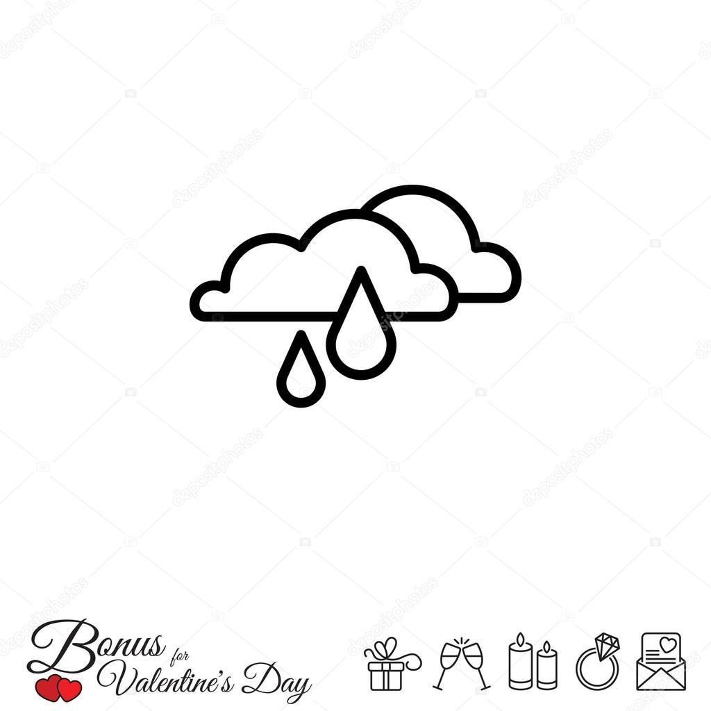 rainy simple icon