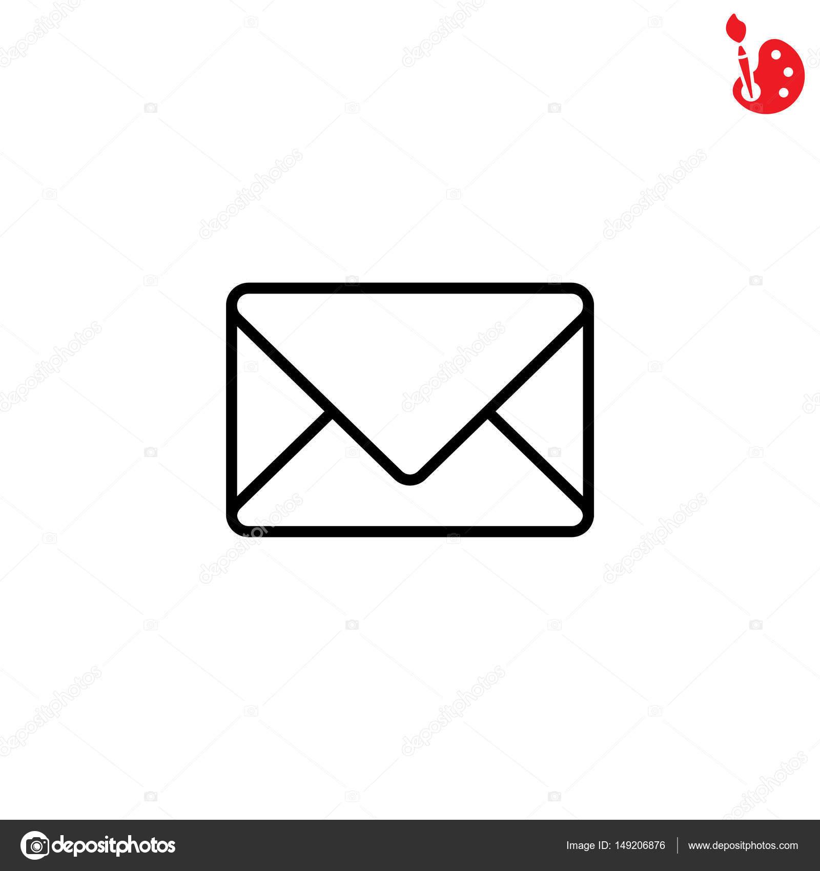 Briefumschlag-Symbol — Stockvektor © PPVector #149206876