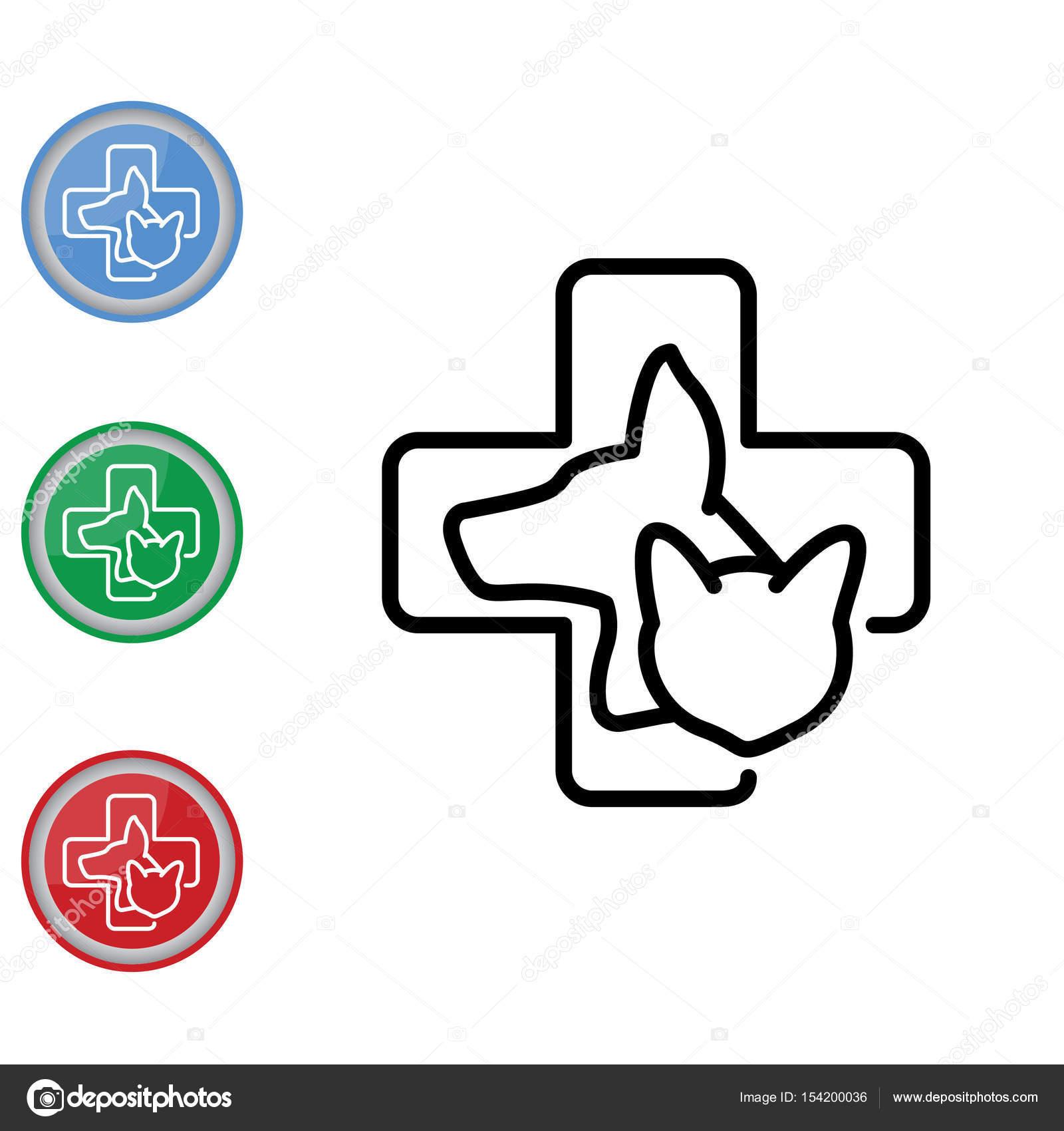 Preferência ícone de medicina veterinária — Vetores de Stock © PPVector #154200036 UC49