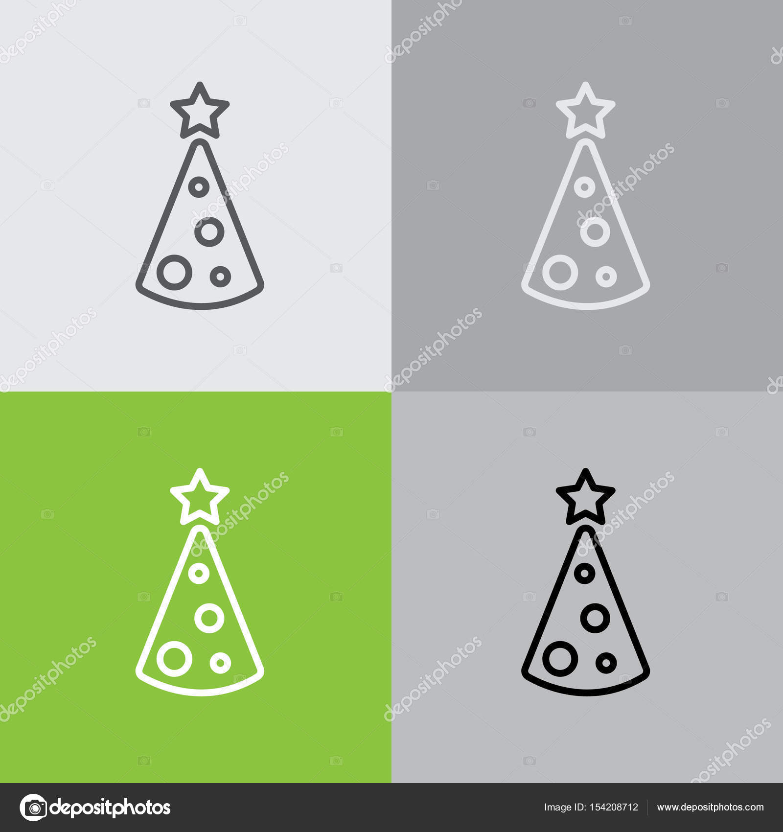 Christmas tree icon — Stock Vector © PPVector