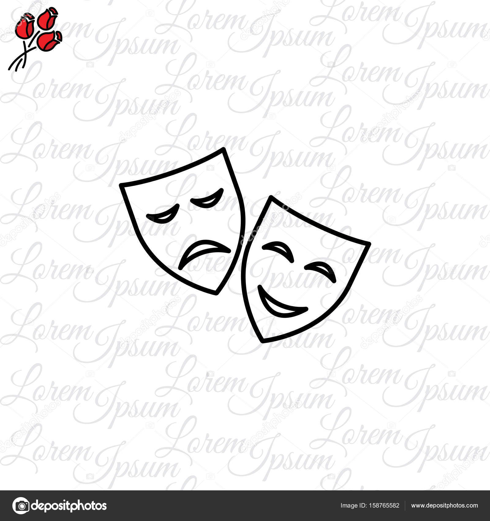 Imágenes Del Teatro Griego Para Colorear Icono De Máscaras De