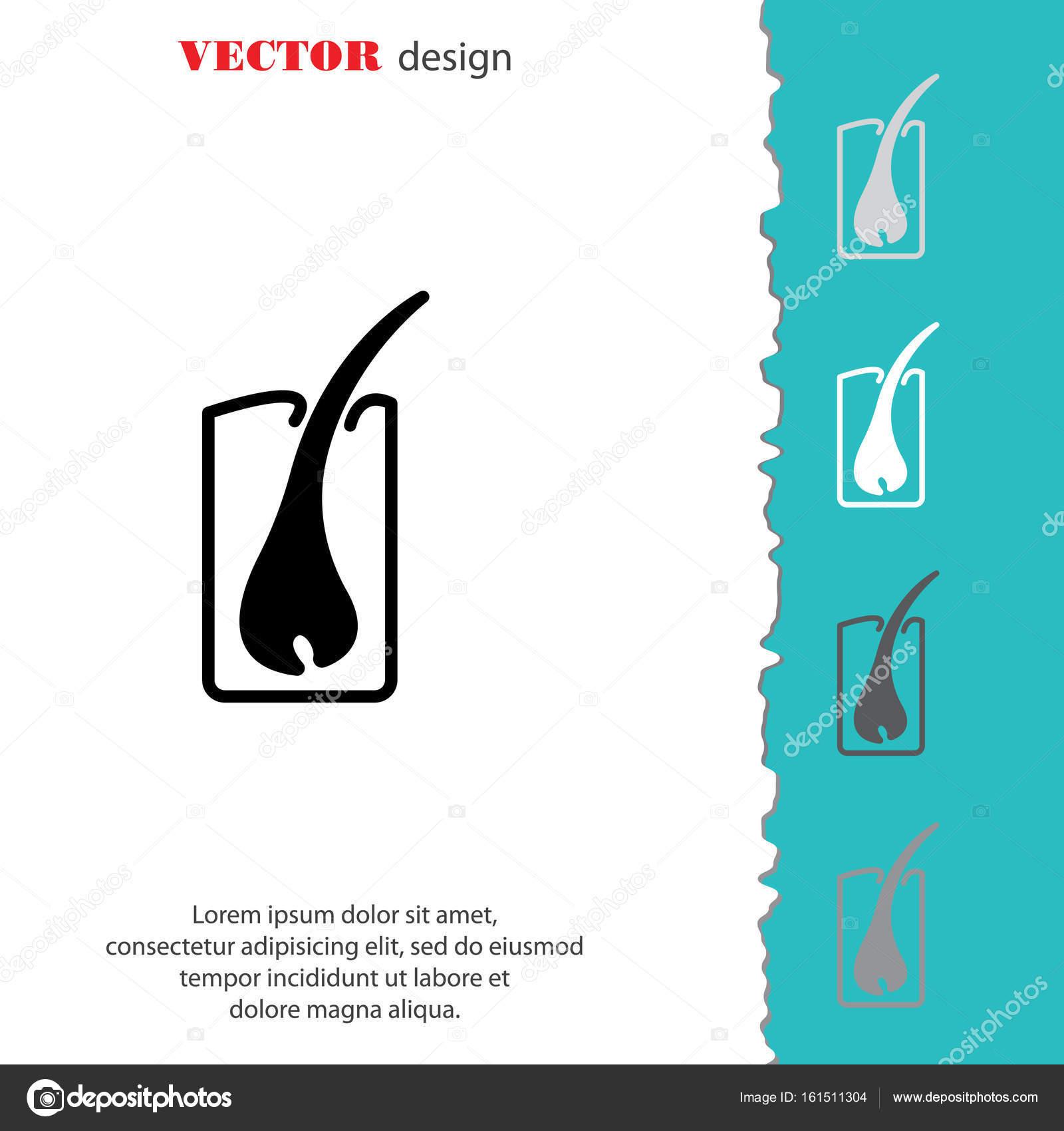 icono simple de la raíz de cabello — Vector de stock © PPVector ...