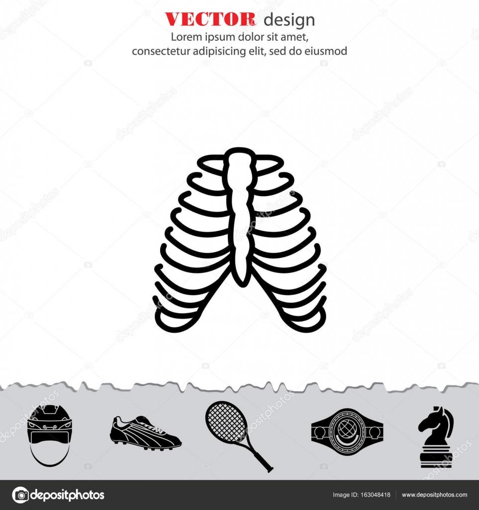 icono de costillas humanas — Vector de stock © PPVector #163048418