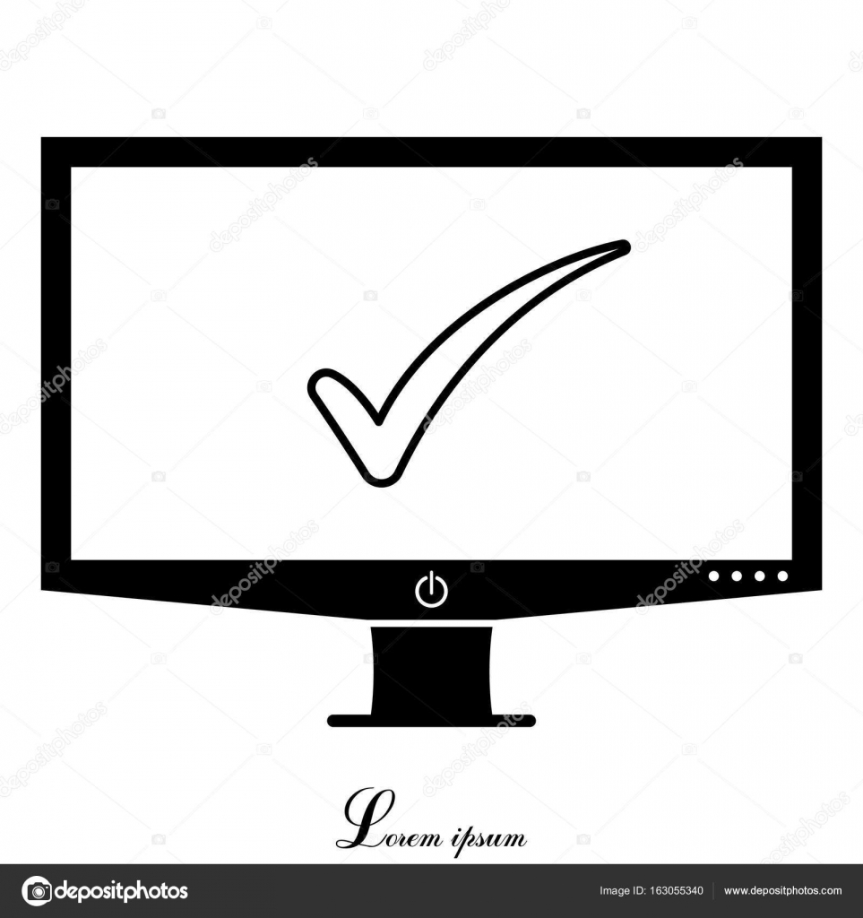 Check Mark Symbol Stock Vector Ppvector 163055340