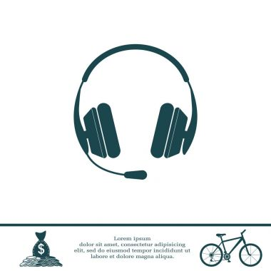 Design of headphone icon