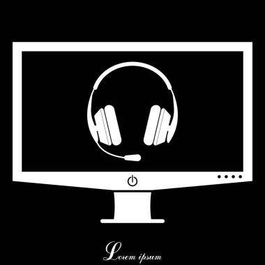 Design of headphone icon
