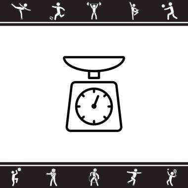 Kitchen scales web icon