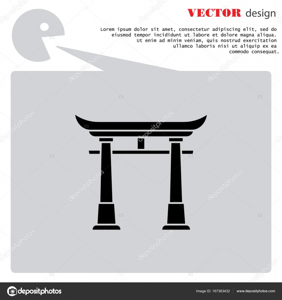 Japan Gate Symbol Stockvektor Ppvector 167363432 And