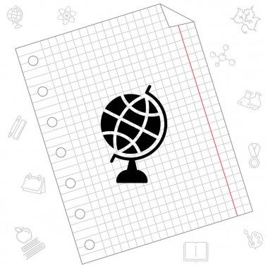 Abstract globe Web ico