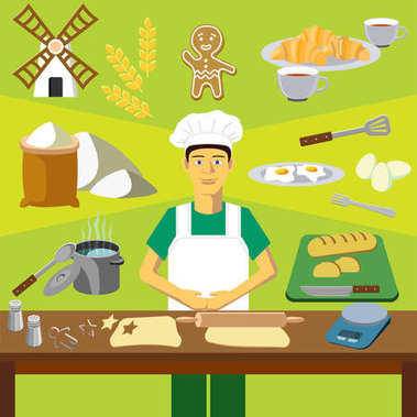 Profession of the baker (cook)