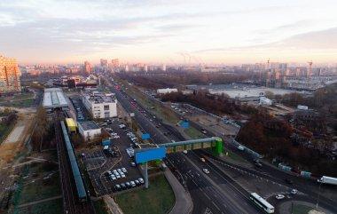 Andropov Avenue and the Technopark metro station at dawn.