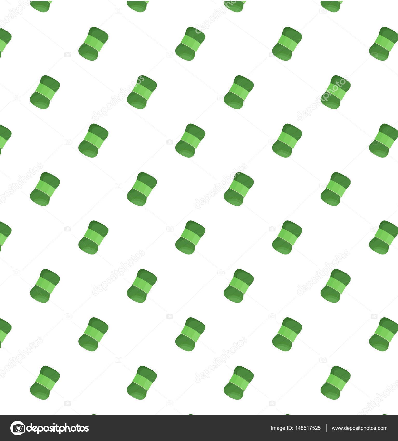 Ilustración de vector de patrón de colores de lana verde — Vector de ...