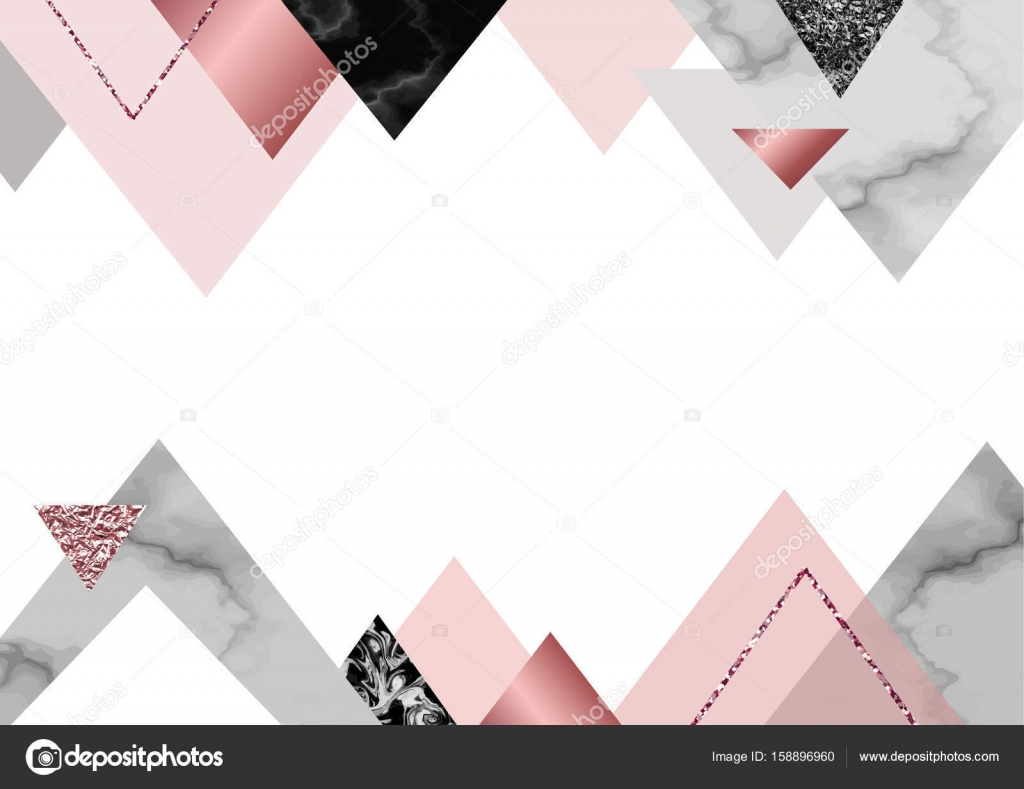 Marble rose background in trendy minimalist geometric style with marble rose background in trendy minimalist geometric style with stone foil glitter metallic textures triangles template for poster invitation stopboris Images