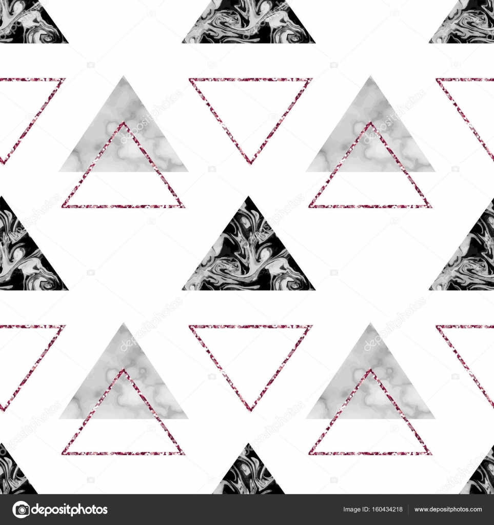 Marble Geometric Seamless Pattern Or Background In Trendy Style