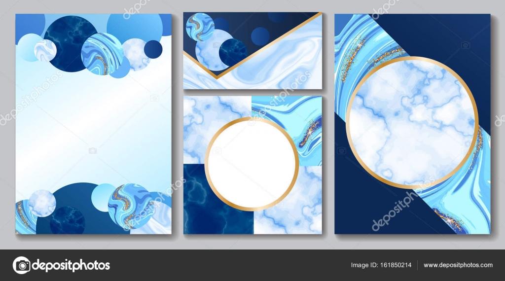 Diseño de folleto mármol, conjunto de identidad corporativa ...