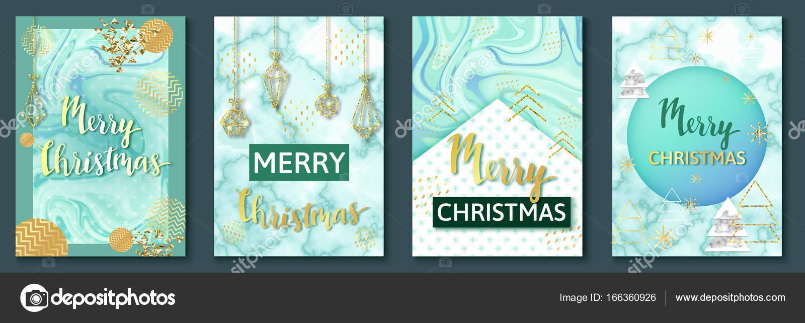 Carteles Navidad moda set o de fondo, plantillas de invitación de ...