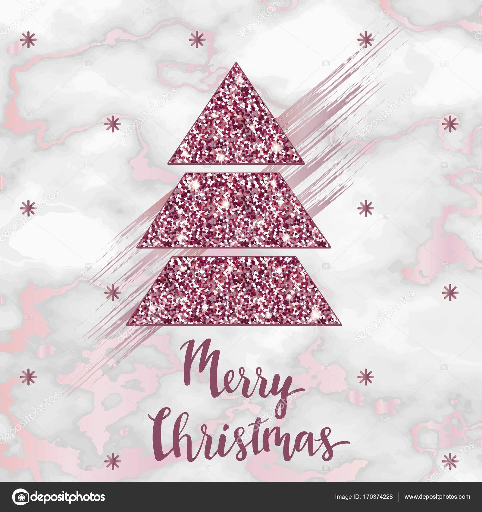 Frohe Weihnachten Gold stieg Marmor Poster oder Hintergrund, Party ...