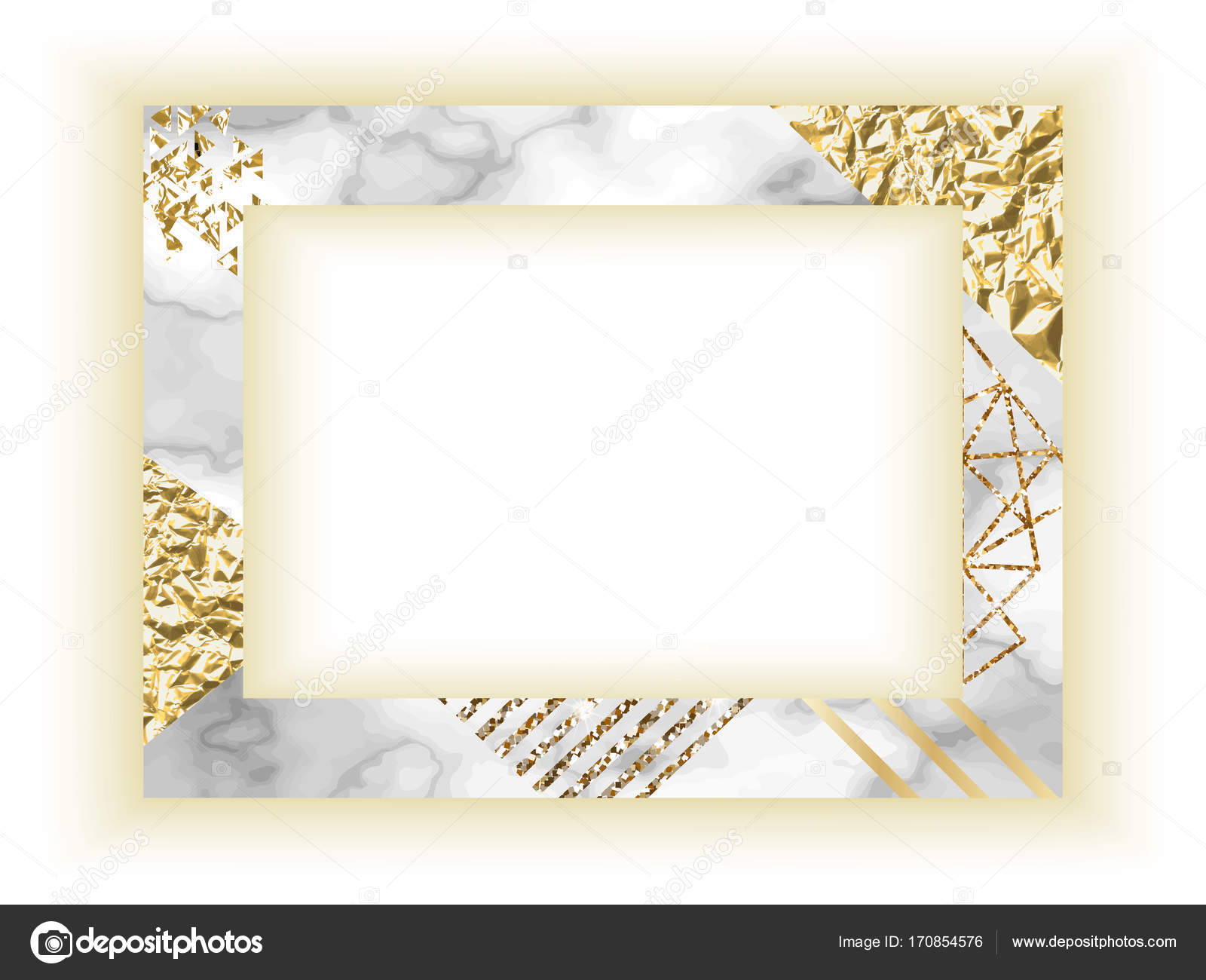 Frame template golden texture with border marble business card frame template golden texture with border marble business card or background in trendy minimalistic magicingreecefo Gallery