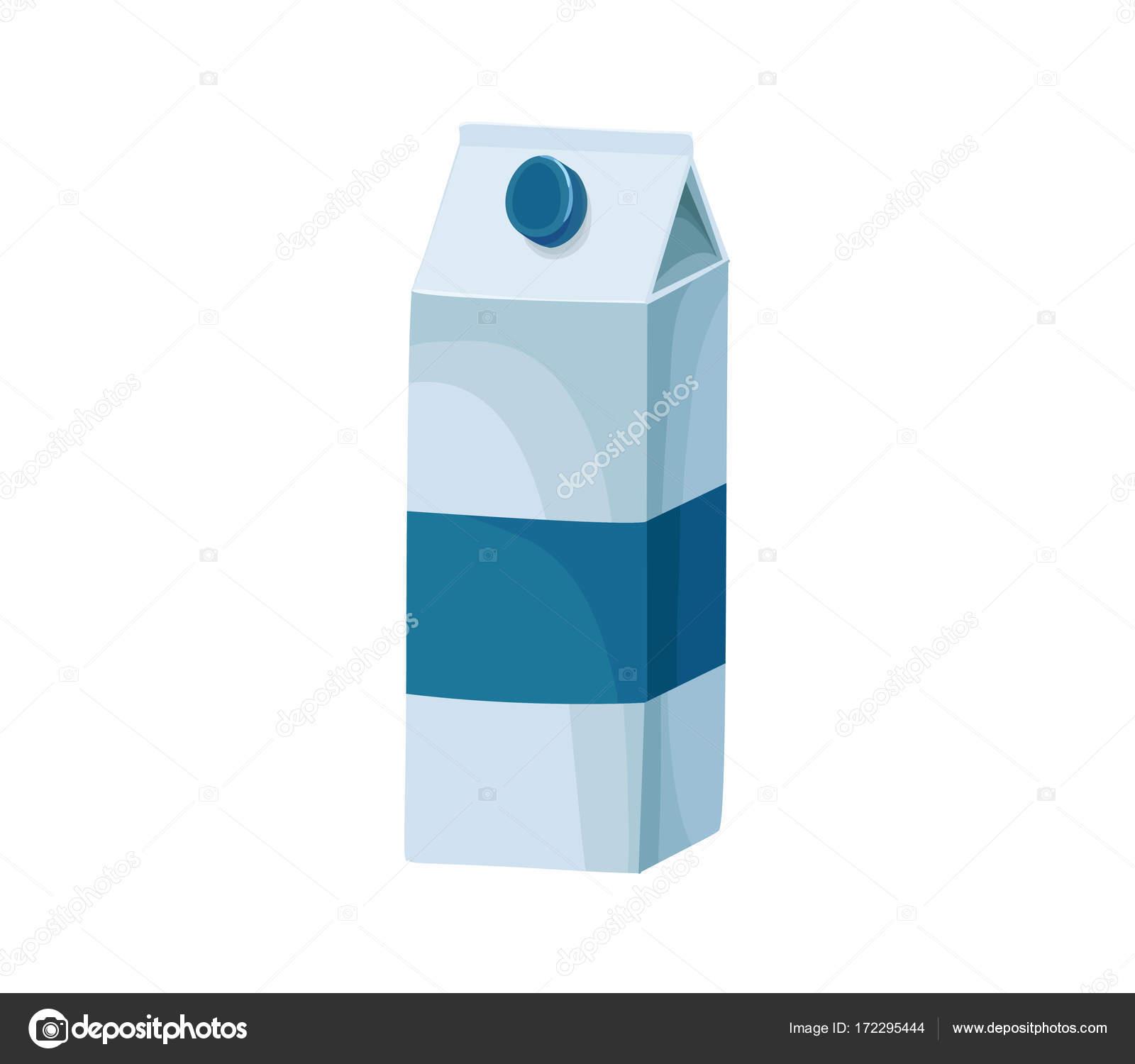 Milch Karton Vektor Icon isoliert, von hand gezeichnete Skizze des ...